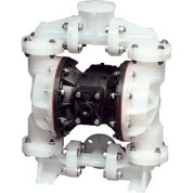 Sandpiper Air-Operated Double Diaphragm Pump - 1in. Inlet, 45 GPM, Polypropylene/Buna, Model# S1FB3PBPPUS000