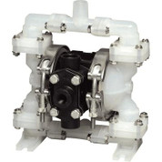 Sandpiper Air-Operated Double Diaphragm Pump - 1/4in. Inlet, 4 GPM, Polypropylene/PTFE, Model# PB1/4, TT3PA