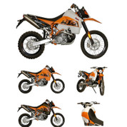 KTM 950 Super Enduro Safari Tank With Shrouds