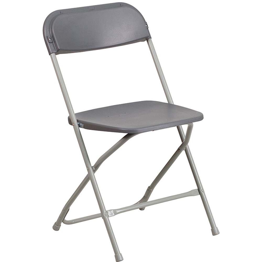 Plastic Folding Chairs | Gray Foldable Chairs