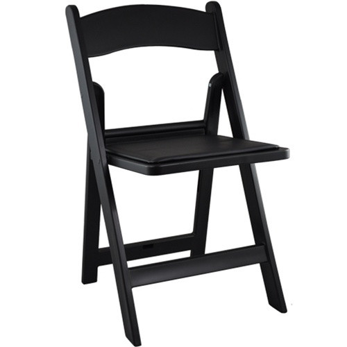 Black Resin Folding Wedding Chair  Padded Folding Chairs -4384