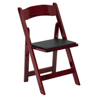 Mahogany Wood Folding Wedding Chair [XF-2903-MAH-WOOD-GG]