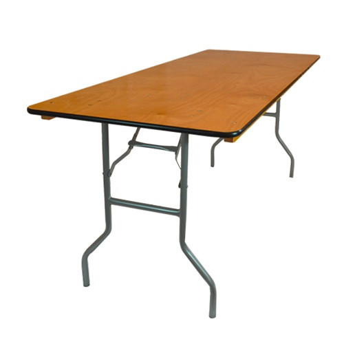 30 X 72 Wood Folding Banquet Table 6 Ft Folding Tables