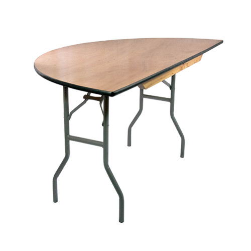 Banquet Tables | 5 ft. Half Round Table | Wood Folding Table