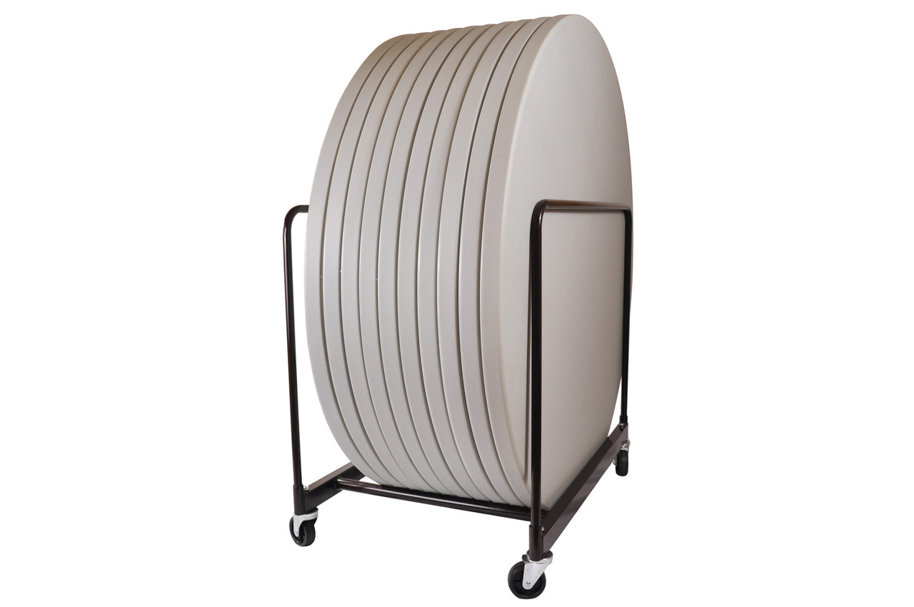 Round Folding Banquet Table Cart