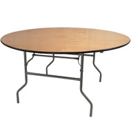 Banquet Tables | 66 Inch Round Folding Table | Wood Folding Table