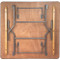Banquet Tables   4 ft. Square Folding Table   Wood Folding Table