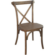 X-Back Chair | Light Brown | Cross Back Chairs