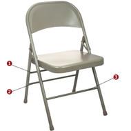 Metal Folding Chair | Beige Folding Chairs