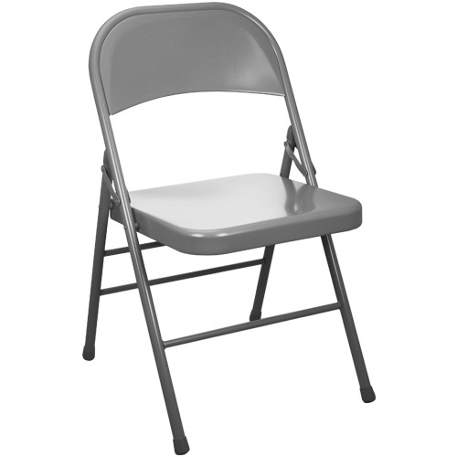 Metal Folding Chair | Gray Folding Chairs