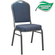 Banquet Chairs | Premium Navy-patterned Crown Back