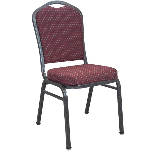 Banquet Chairs | Premium Burgundy-patterned Crown Back