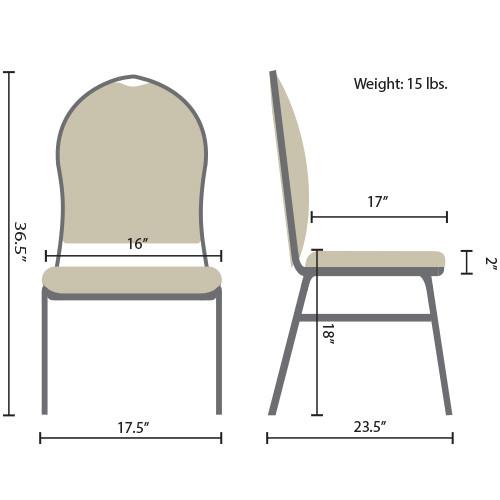 Banquet Chairs | Premium Burgundy Crown Back | Gold Vein