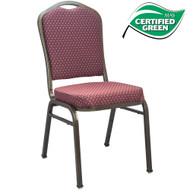 Banquet Chairs | Premium Burgundy Crown Back | Gold Vein