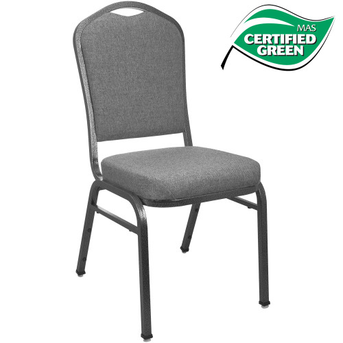 Banquet Chairs | Premium Charcoal Gray Crown Back