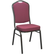 Banquet Chairs | Burgundy Pattern Crown Back