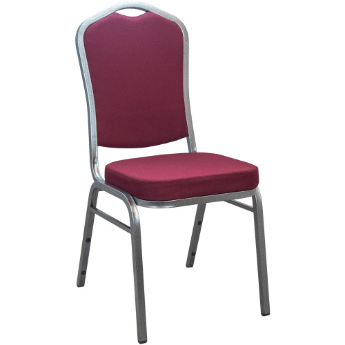 Banquet Chairs | Burgundy Crown Back | Stackable Chairs