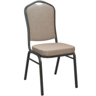 Banquet Chairs | Tan Crown Back | Stackable Chairs