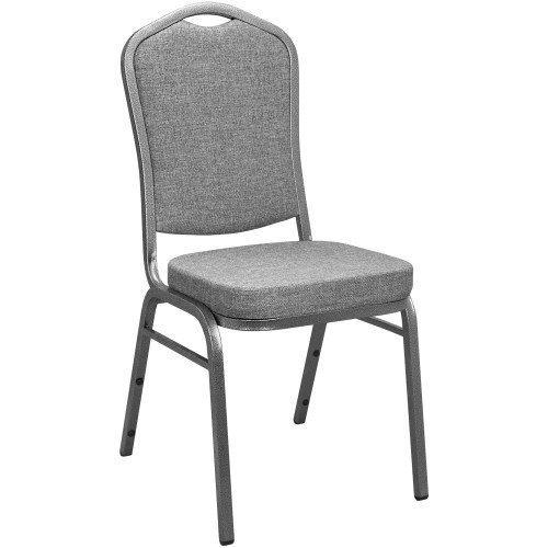 Banquet Chairs | Gray Crown Back | Stackable Chairs