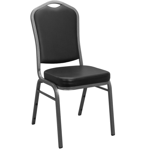 Banquet Chairs | Black Vinyl | Stackable Chairs