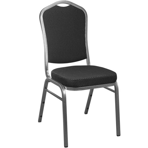 Banquet Chairs | Black Patterned | Stackable Chairs