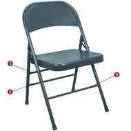 Metal Folding Chair | Slate Blue Folding Chairs