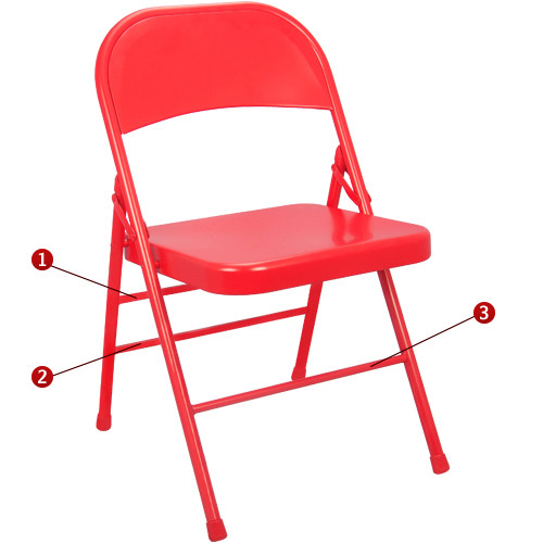 Metal Folding Chair | Red Folding Chairs