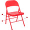 Metal Folding Chair   Red Folding Chairs