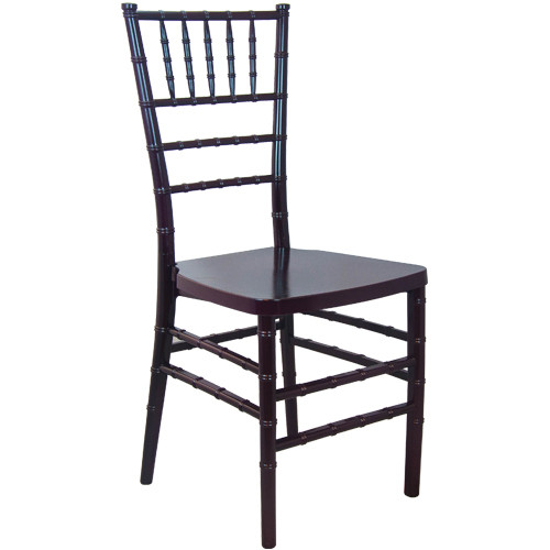 Mahogany Monoblock Resin Chiavari Chair | Chiavari Chairs For Sale