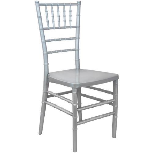 Silver Monoblock Resin Chiavari Chair   Chiavari Chairs For Sale