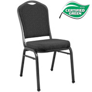 Banquet Chairs | Premium Patterned Black Crown Back