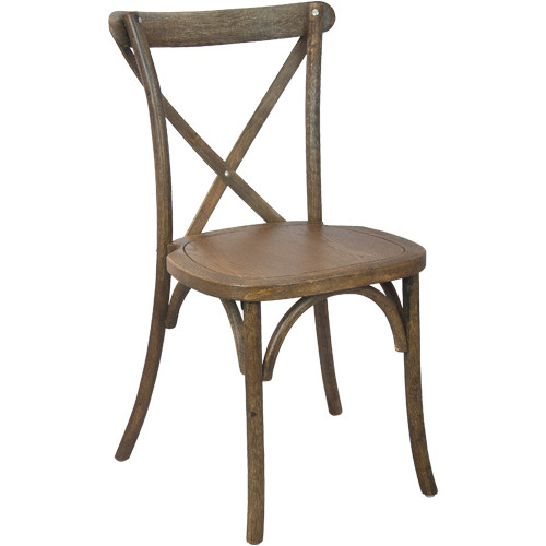 X-Back Chair | Hand Scraped Dark Natural | Cross Back Chairs