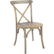 X-Back Chair | Medium Natural With White Grain | Cross Back Chairs