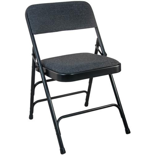 Metal Folding Chairs   Black Padded Folding Chairs