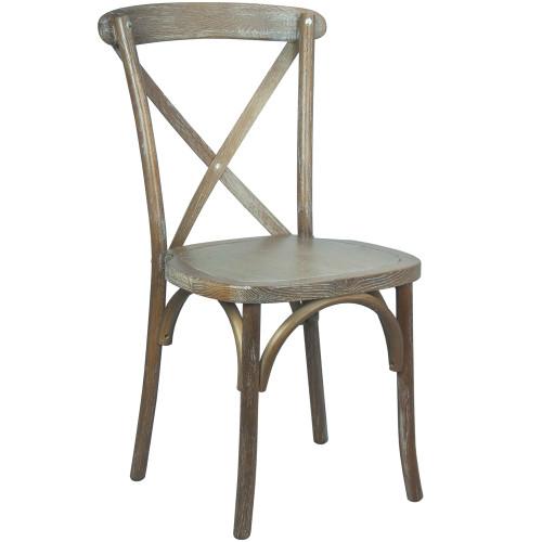 X-Back Chair | Medium With White Grain | Cross Back Chairs