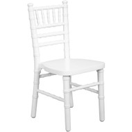 Kids White Wood Chiavari Chair [KID-WDCHI-White]