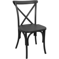 X-Back Chair | Black Resin | Cross Back Chairs