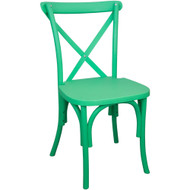 X-Back Chair | Green Resin | Cross Back Chairs