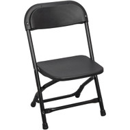 Kids Black Plastic Folding Chair [PPFCKID-Black]