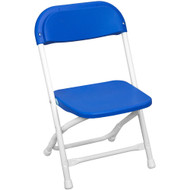 Kids Blue Plastic Folding Chair [PPFCKID-Blue]