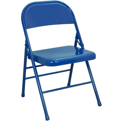 Metal Folding Chair   Blue Folding Chairs