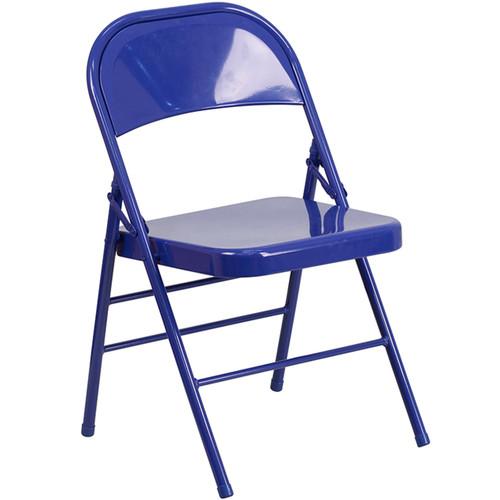 Metal Folding Chair | Blue Folding Chairs