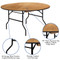 Banquet Tables | 5 Foot Round Folding Table | Wood Folding Table
