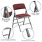 Metal Folding Chairs | Burgundy Padded Folding Chairs