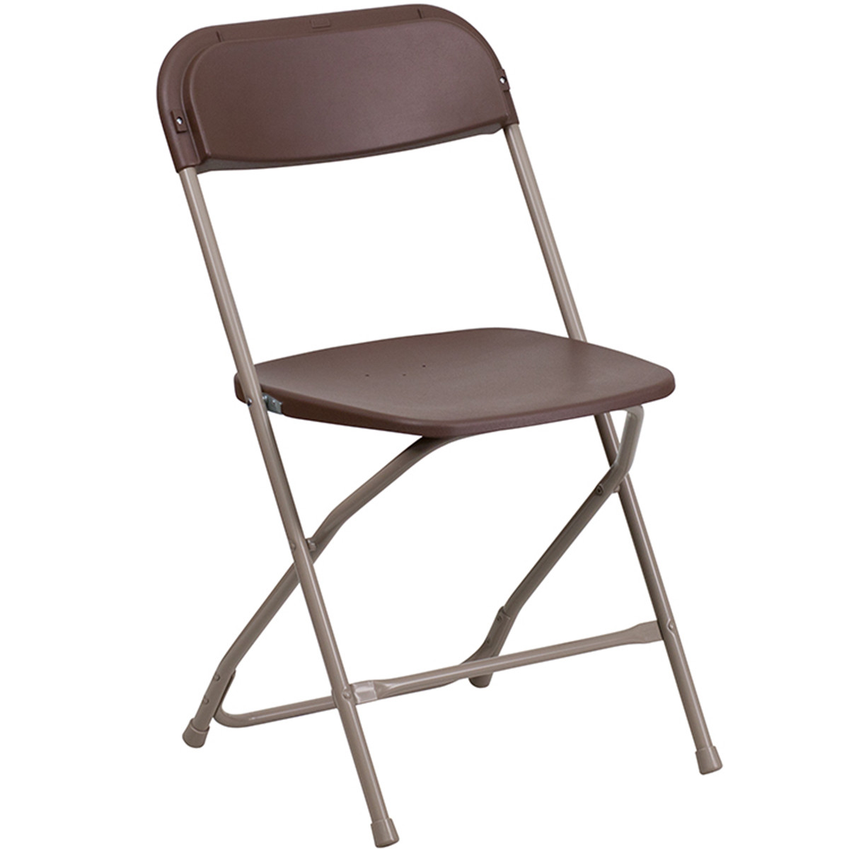 Brown Plastic Folding Chairs Le L 3 Brown Gg