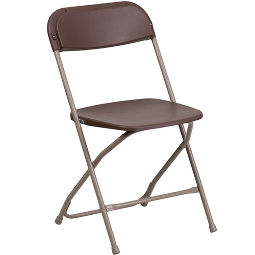 Plastic Folding Chairs | Brown Foldable Chairs