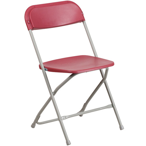 Plastic Folding Chairs | Red Foldable Chairs