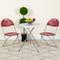 Lightweight Burgundy Fan Back Plastic Folding Chairs   Foldable Chairs