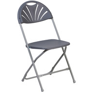 Lightweight Gray Fan Back Plastic Folding Chairs | Foldable Chairs