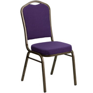Banquet Chairs | Purple Fabric | Stackable Chairs